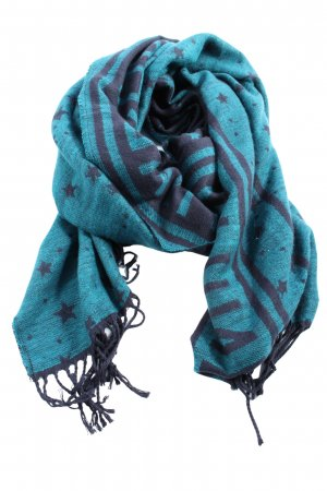 Esprit Fringed Scarf blue-lilac casual look