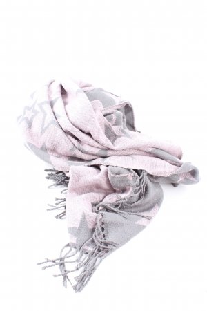Esprit Fringed Scarf pink-light grey allover print casual look