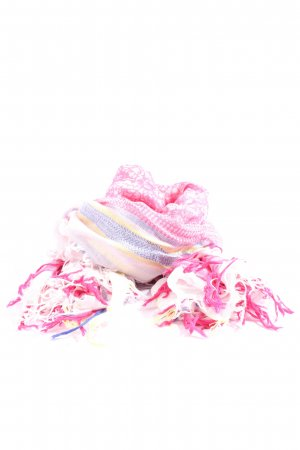 Esprit Fringed Scarf abstract pattern casual look