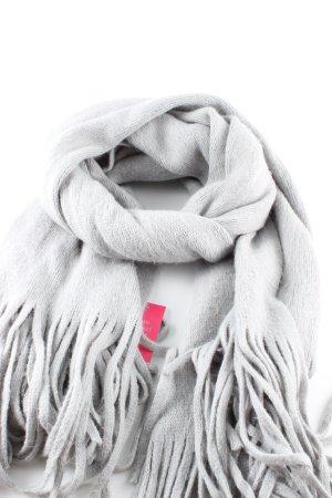 Esprit Bufanda de flecos gris claro look casual