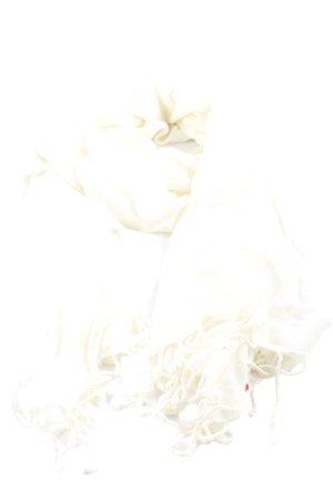 Esprit Bufanda de flecos blanco estilo «business»