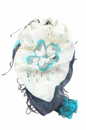 Esprit Bufanda de flecos estampado floral elegante
