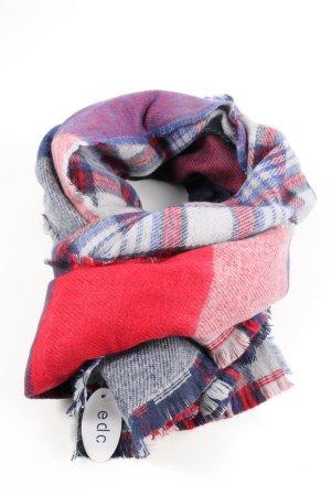 Esprit Sjaal met franjes geruite print casual uitstraling