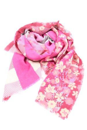 Esprit Bufanda de flecos rosa-blanco puro Mezcla de patrones look casual