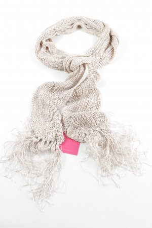 Esprit Fringed Scarf natural white cable stitch casual look