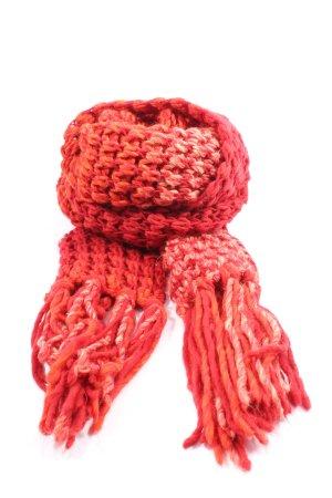 Esprit Bufanda de flecos rojo look casual