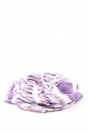 Esprit Fringed Scarf lilac-white allover print casual look