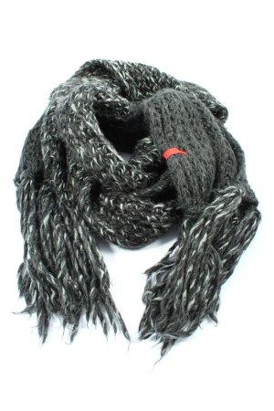 Esprit Écharpe à franges noir-blanc style décontracté