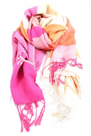 Esprit Fringed Scarf pink-light orange graphic pattern casual look