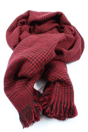Esprit Bufanda de flecos rojo-negro look casual