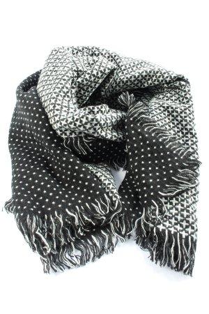 Esprit Bufanda de flecos negro-blanco look casual