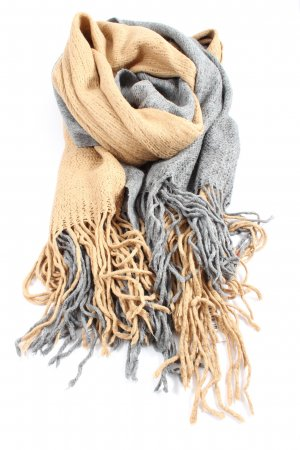 Esprit Fringed Scarf light grey-nude striped pattern casual look