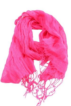 Esprit Bufanda de flecos rosa Patrón de tejido look casual