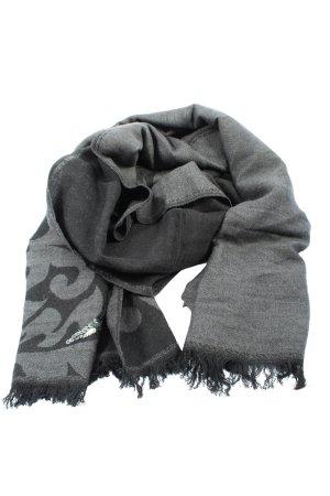 Esprit Écharpe à franges gris clair imprimé allover style décontracté