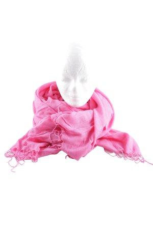 Esprit Bufanda de flecos rosa look casual