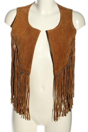 Esprit Veste à franges brun style décontracté