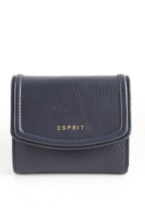 Esprit Geldbörse schwarz Schriftzug gedruckt Business-Look