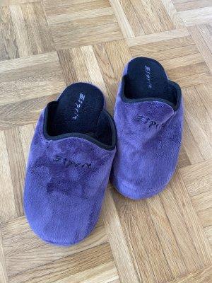 Esprit Pantoufles violet-noir