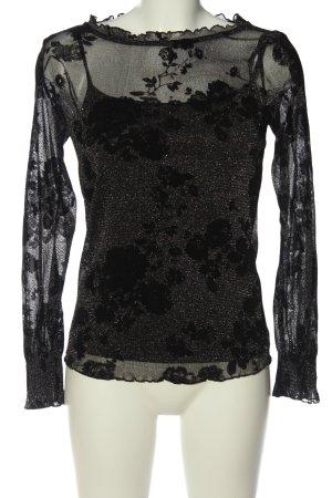 Esprit Glanzende blouse zwart klassieke stijl