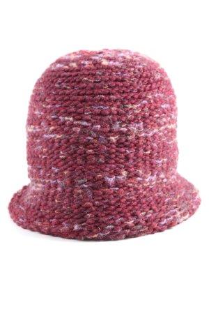 Esprit Glockenhut pink-weiß meliert Casual-Look