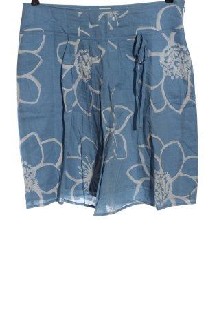 Esprit Glockenrock blau-weiß Allover-Druck Casual-Look