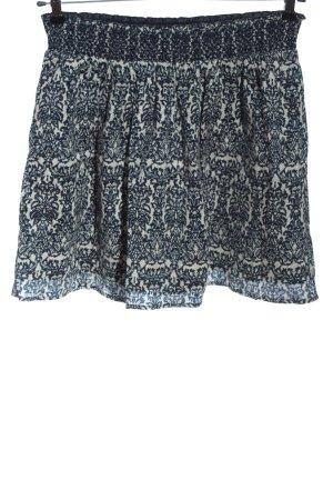 Esprit Flared Skirt blue-natural white allover print elegant