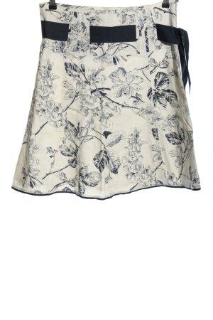 Esprit Glockenrock weiß-schwarz Blumenmuster Casual-Look