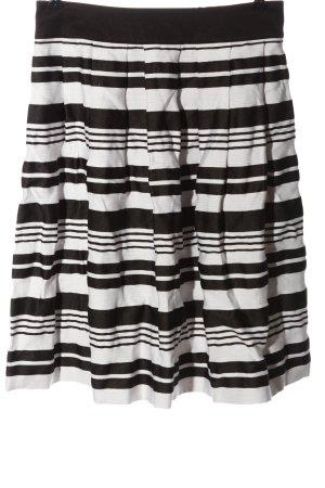 Esprit Glockenrock weiß-schwarz Streifenmuster Casual-Look