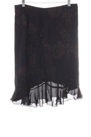 Esprit Jupe à godet noir-mauve motif floral élégant
