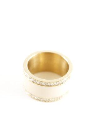 Esprit Goldring goldfarben-wollweiß Elegant