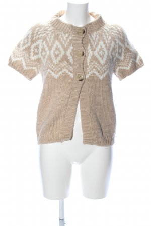 Esprit Cardigan a maglia grossa color carne-bianco motivo grafico stile casual