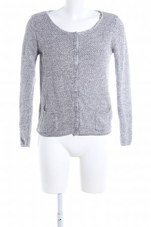 Esprit Coarse Knitted Jacket light grey flecked casual look