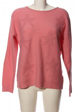 Esprit Grobstrickpullover pink Motivdruck Casual-Look