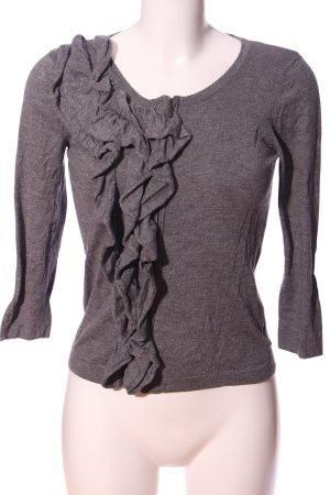 Esprit Pullover a maglia grossa grigio chiaro puntinato stile casual