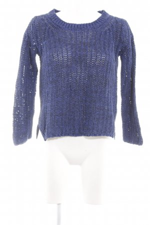 Esprit Grobstrickpullover blau Webmuster Casual-Look