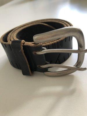 Esprit Cintura di pelle marrone-nero
