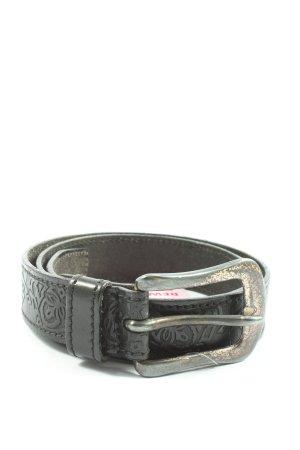 Esprit Hebilla del cinturón negro look casual