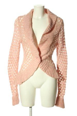 Esprit Crochet Cardigan nude casual look