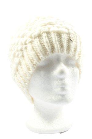 Esprit Crochet Cap natural white cable stitch casual look