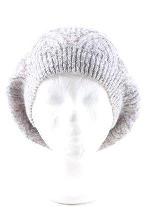 Esprit Gorro tejido gris claro punto trenzado look casual