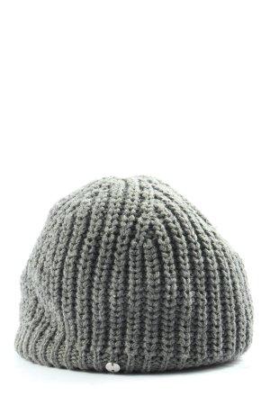 Esprit Bonnet en crochet gris clair torsades style décontracté