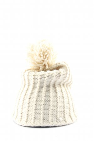Esprit Crochet Cap natural white cable stitch casual look
