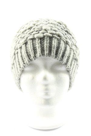 Esprit Crochet Cap light grey cable stitch casual look
