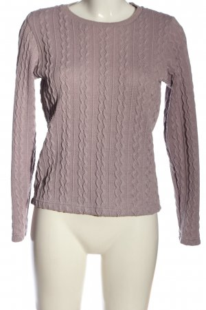 Esprit Crochet Sweater lilac cable stitch casual look