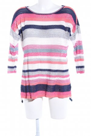 Esprit Crochet Sweater striped pattern casual look