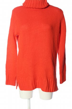Esprit Crochet Sweater red cable stitch casual look