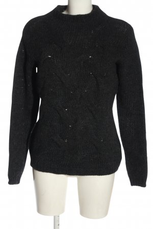 Esprit Crochet Sweater black flecked casual look