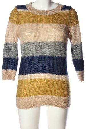 Esprit Szydełkowany sweter Wzór w paski W stylu casual