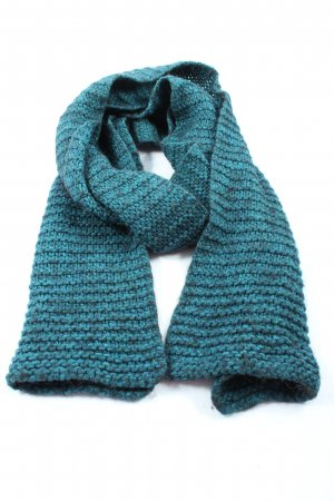 Esprit Crochet Scarf turquoise flecked casual look