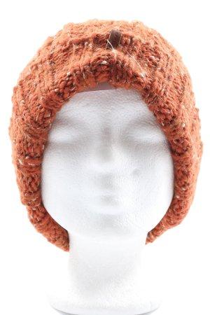 Esprit Sombrero de punto naranja claro punto trenzado look casual